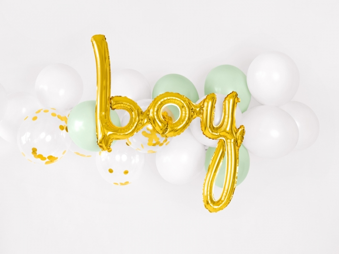 Balon folie BAIAT (BOY), auriu, 63.5x74cm 0