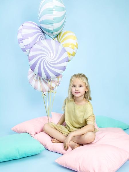 Balon folie Candy, 45cm, lila deschis 3