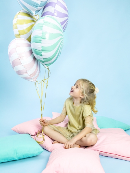 Balon folie Candy, 45cm, lila deschis 4