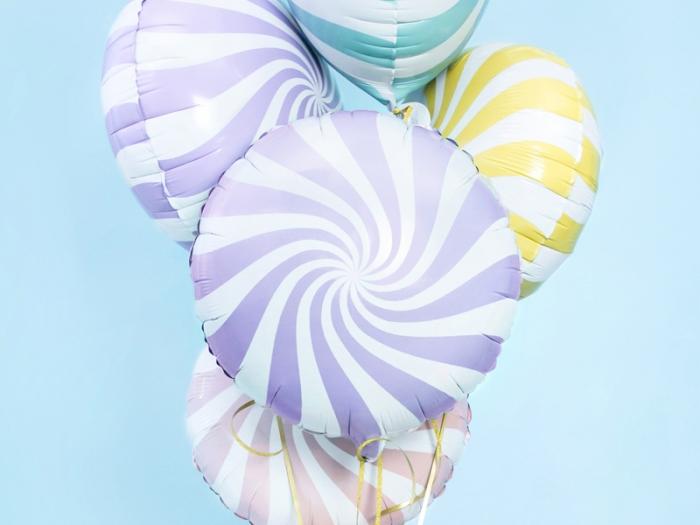 Balon folie Candy, 45cm, lila deschis 0