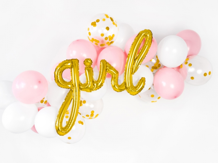 Balon folie Girl, auriu, 77x70cm 0
