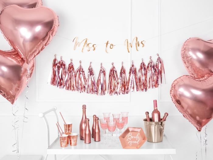 Ghirlanda ciucuri roz auriu, 12 ciucuri, 1.5 m lungime 7