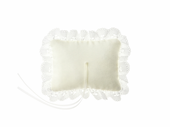 Pernuta verighete crem cu dantela si panglica 10x13cm 3