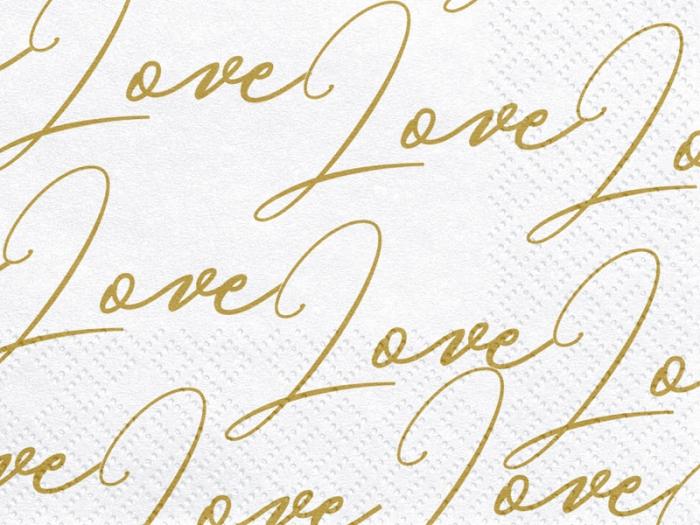 Servetele de hartie cu inscriptia LOVE 2