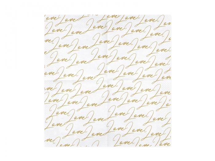 Servetele de hartie cu inscriptia LOVE 5